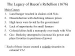 The Legacy of Bacon`s Rebellion