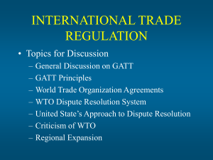 INTERNATIONAL TRADE REGULATION
