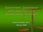 Government and Governance in the Great Lakes Environment