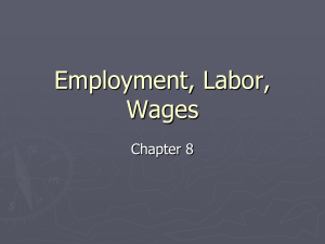 Employment, Labor, Wages