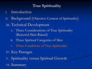 The Three Conditions of Spirituality