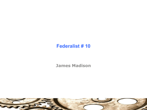 Federalist # 10 - Sites @ Suffolk University