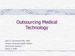 Outsourcing Medical Technology