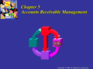 Chapter 5: Credit Management