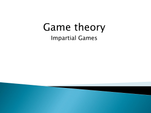 Game theory for contests - CSE-IITK