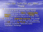 Columbian Exchange and Slave Trade