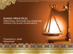 Sharia principles, Operational mechanism and