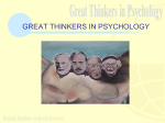 GREAT THINKERS IN PSYCHOLOGY