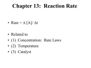 Reaction Rate-Catalyst