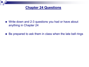Chapter 24 Questions - About me...the Social Studies Guy