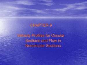 Velocity Profiles for Circular Sections and Flow in