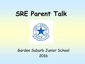 SRE talk for all parents Nov 2016 PPT File