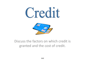 Module 15 Credit Review