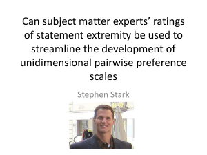 Can subject matter experts` ratings of statement extremity be used