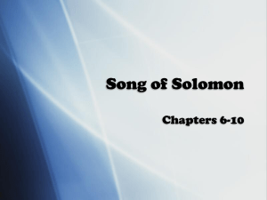 analysis of song of solomon Song of solomon  many of the allusions give rise to the belief that it was written to celebrate the nuptials of solomon and the daughter of pharaoh analysis of song of solomon i the king's first attempt to win the virgin's love, 1:1-2:7 1 she converses with the ladies of the court, 1:1-8.