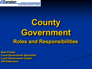 County Government Roles and Responsibilities