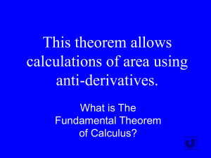Calculus Jeopardy - Designated Deriver