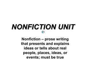 Nonfiction Unit Literary Terms