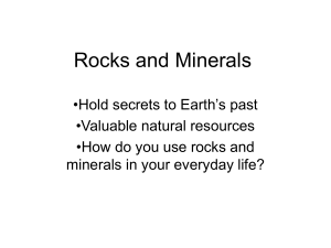 Rocks and Minerals - LCS Essentially Science
