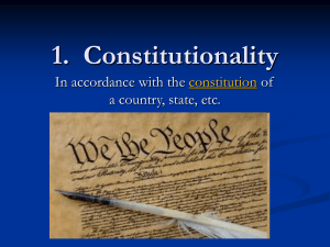 1. Constitutionality