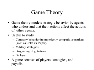 cs2005gametheory - University of Exeter
