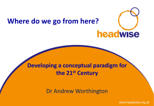Where do we go from here? Developing a conceptual paradigm for
