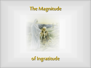 Magnitude of Ingratitude - West Side Church of Christ
