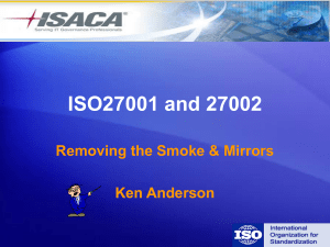 ISO27001 and 27002