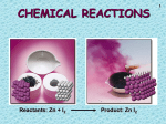 Chemical Reactions - TSHSChemistry