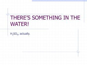 THERE`S SOMETHING IN THE WATER!