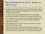 Review of Power Series