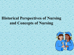 Historical Perspectives of Nursing