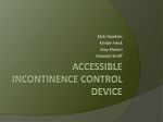 Accessible incontinence control device