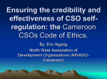 What is the code of Ethics for CSOs