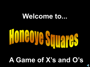 A Game of X`s and O`s