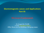 Electromagnetic waves and Applications (Part III)