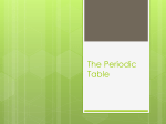 The Periodic Table - Laureate International College