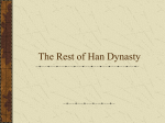 The Rest of Han Dynasty