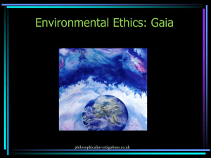 environmental ethics gaia ppt