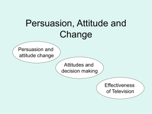 Persuasion, Attitude and Change
