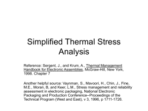 Simplified Thermal Stress Analysis