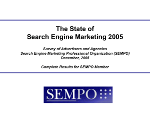 The State of Search Engine Marketing 2005