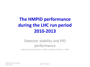The_HMPID_performance