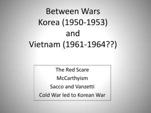Between Wars Korea and Vietnam