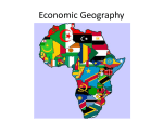 Economic Geography of Africa - Coach Nokes World Geography