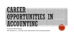Career opportunities in accounting - K