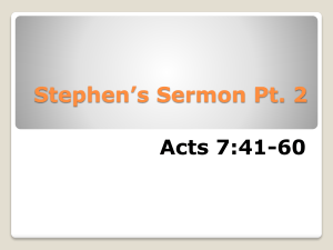 Stephen*s Sermon Pt. 2 - Calvary in the Meadows