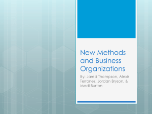 New Methods and Business Organizations 6th