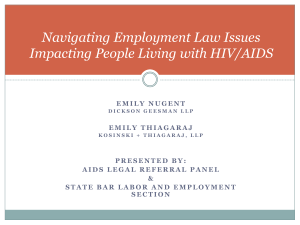 Navigating Employment Law Issues Impacting People Living with