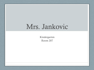 Mrs. Jankovic - East Maine School District 63